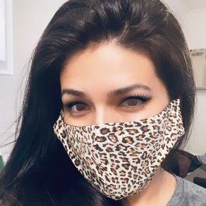 Accessories - 2/$20 Leopard Print Fashion Face Mask